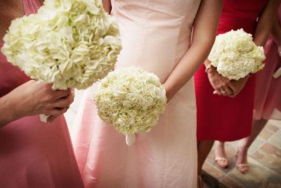 Simple bridesmaid dresses simple bouquets