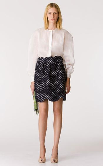 Navy-dot-skirt