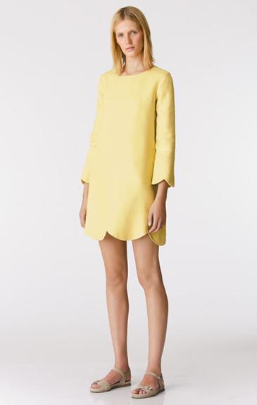 Yellow-scalloped-dress