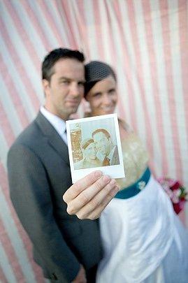 Wedding photobooth stripes