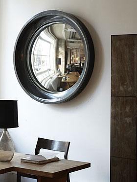 Convex glass mirror