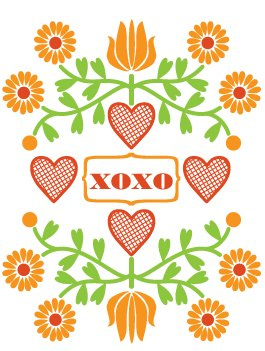 Dutch door press valentine letterpress