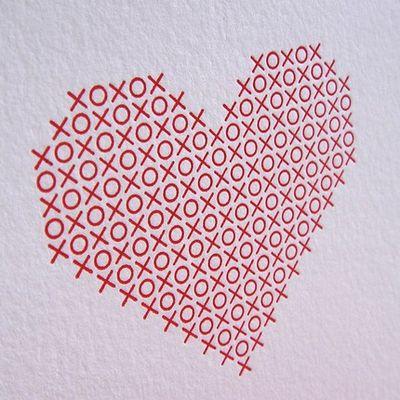 Cross stitch xo heart