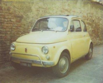 Car italy polaroid