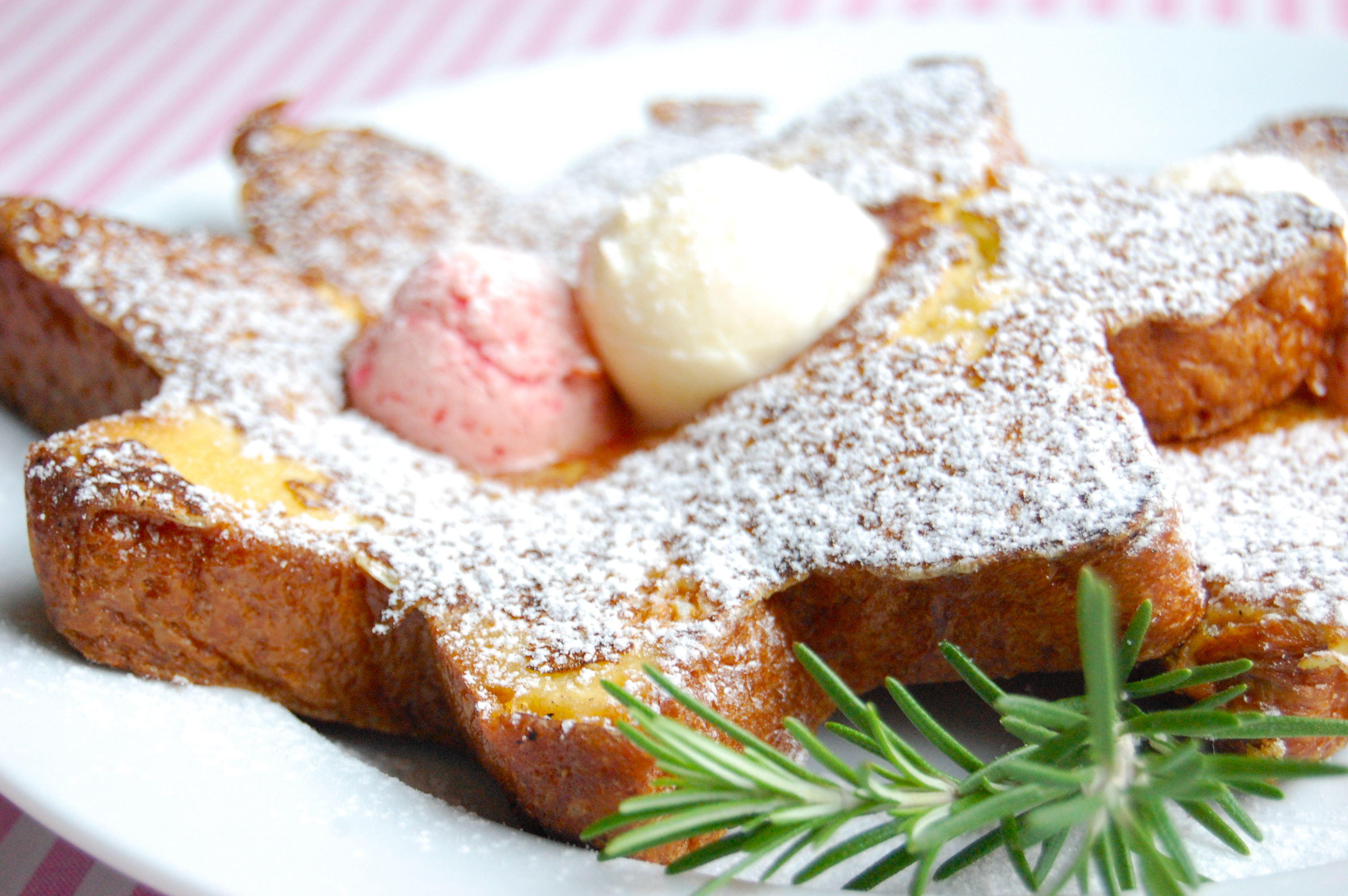 Pandoro French Toast with Blood Orange Butter and Lemon Rosemary ...