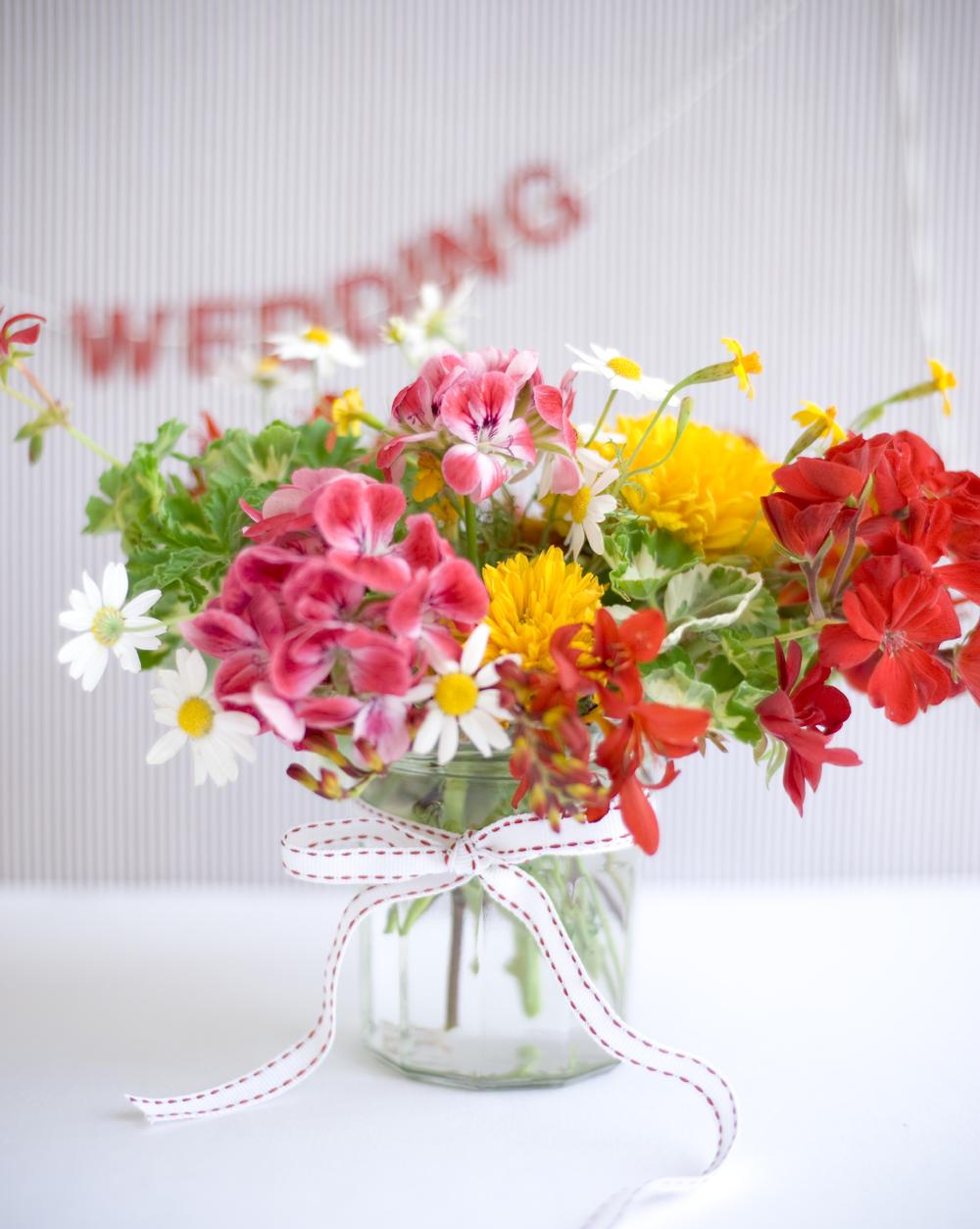 Geranium bouquet