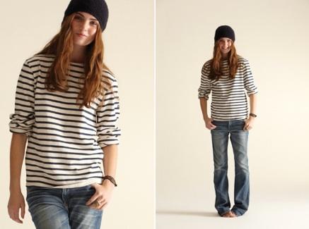 Sailor shirt tomboy jeans