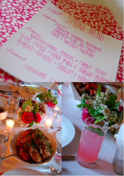 Frolic spring dinner party 1