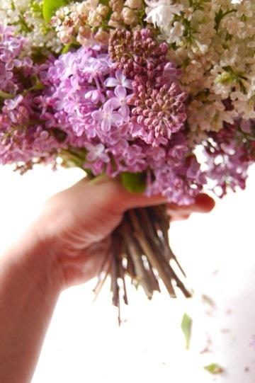 Lilac wedding bouquet diy