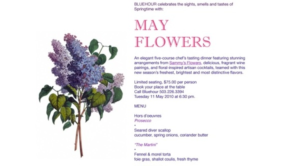 May flowers dinner