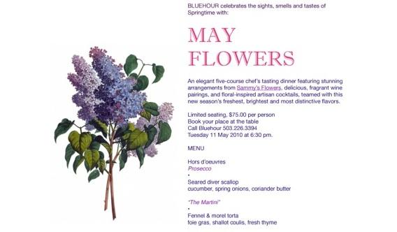 May flowers dinner