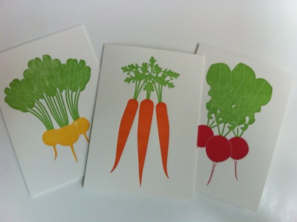 Veggie letterpress
