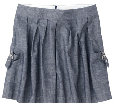 Chambray-skirt