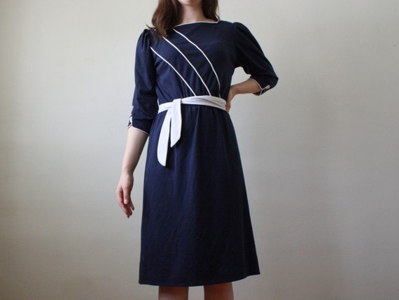 Vintage-navy-dress