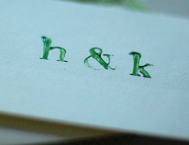 Embossed-monogram