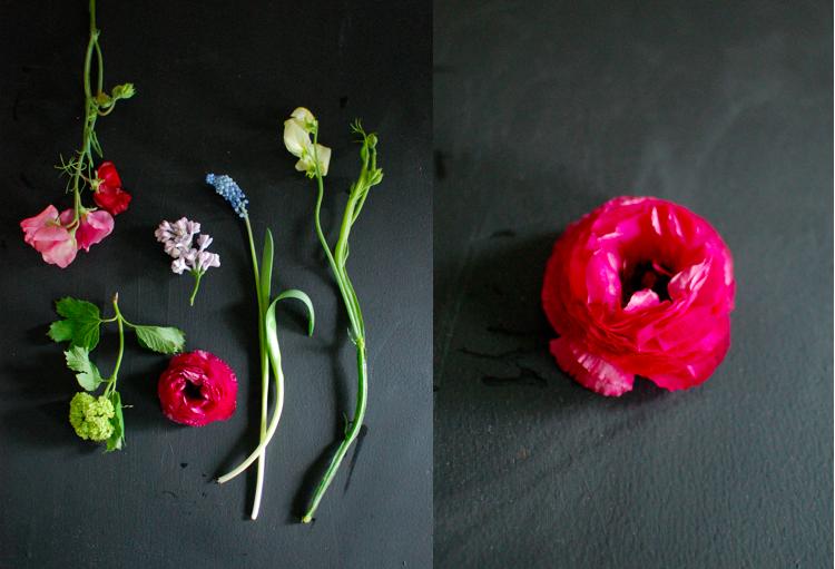 Chalkboard flowers