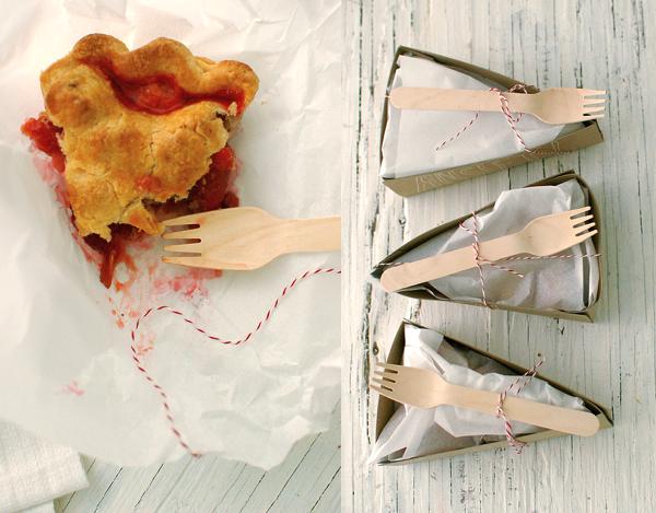 Homemade pie favors