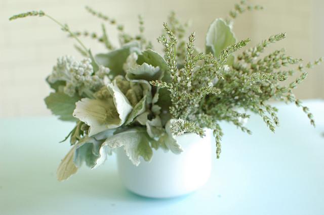 Silver flower arrangement