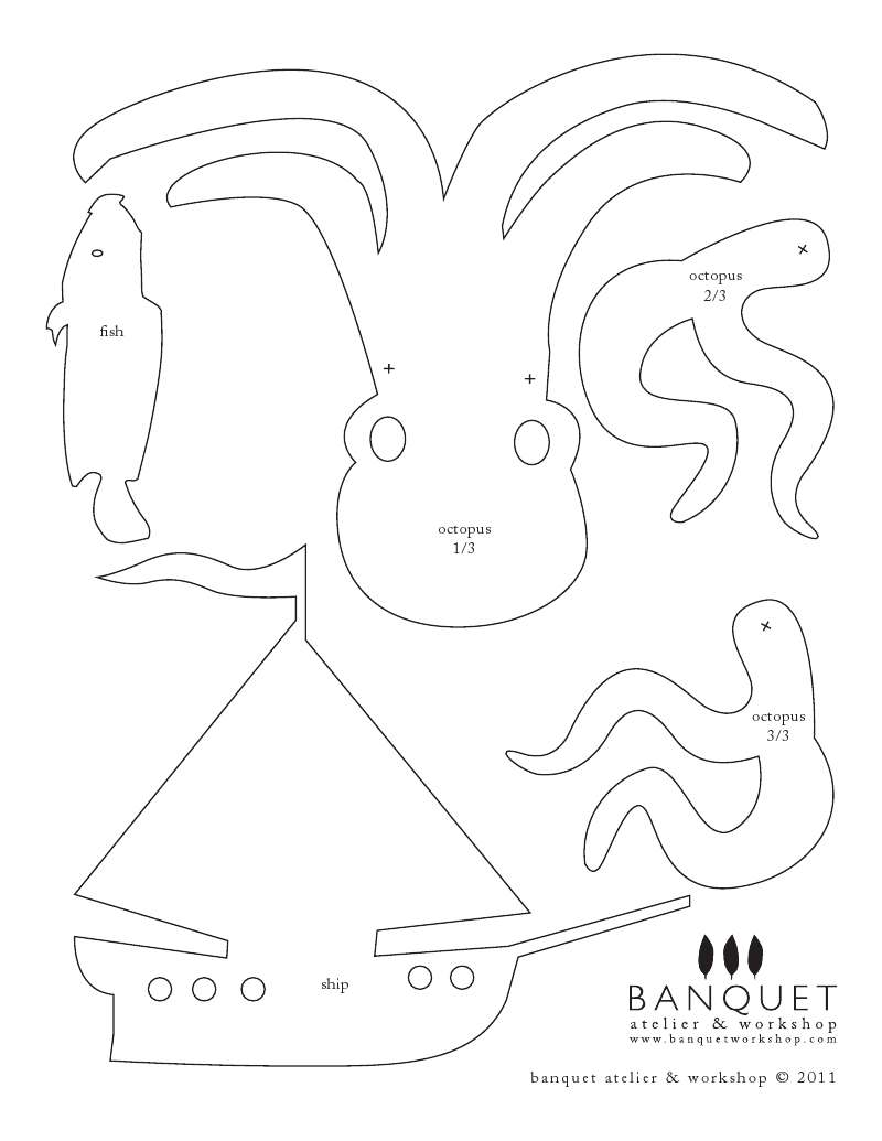 Shadow puppet template
