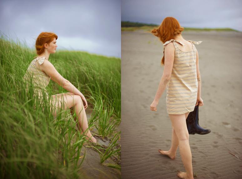 girl sand dunes