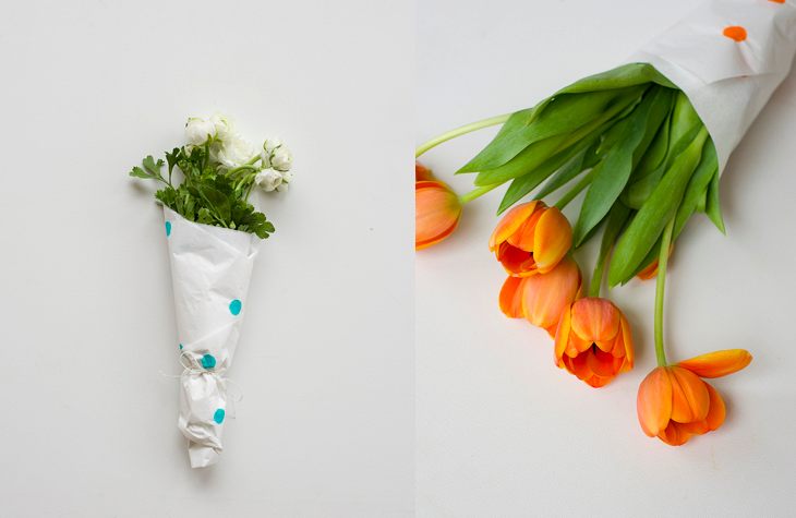 Dotted flower wrappings