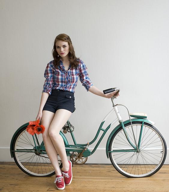 Girl and bicycle lisa warninger