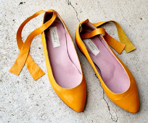 Mustard shoes chebran