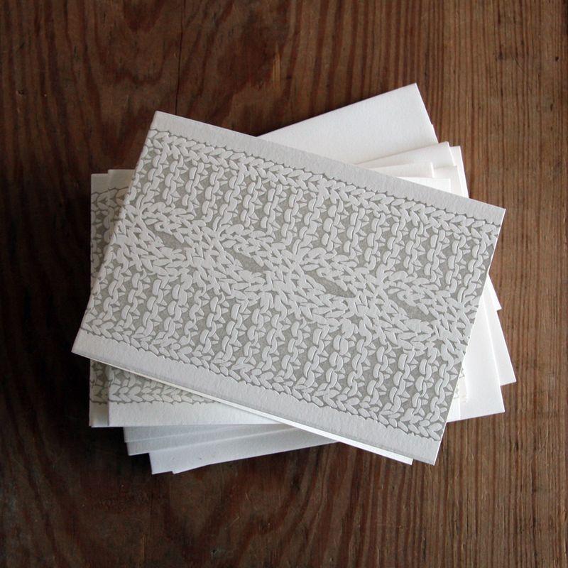 cable knit letterpress