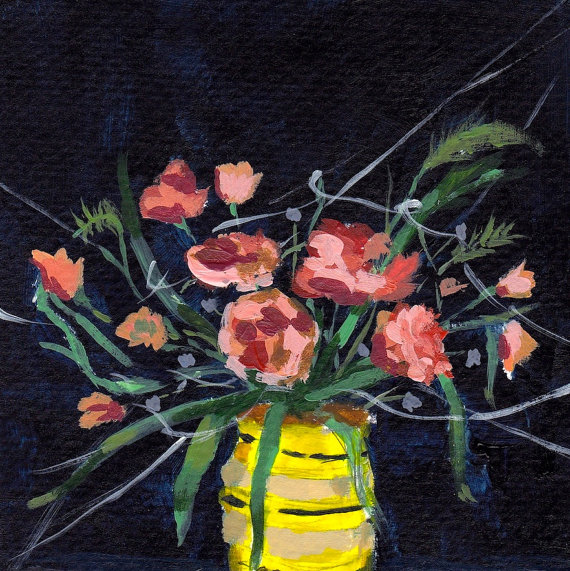 Flower painting by clare elsaesser
