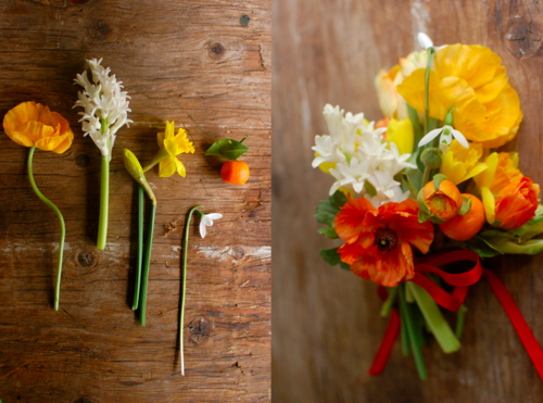 Citrus flower arrangements