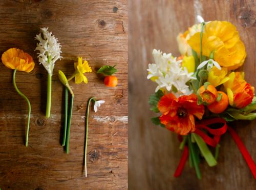 Citrus flower arrangements