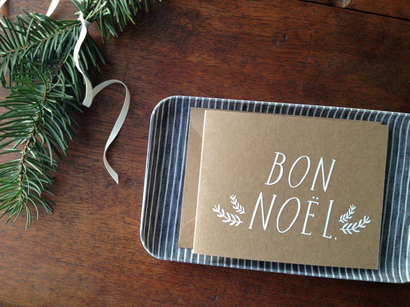 Bon noel card