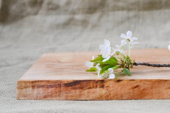 Natural edge salvvaged wood cutting board