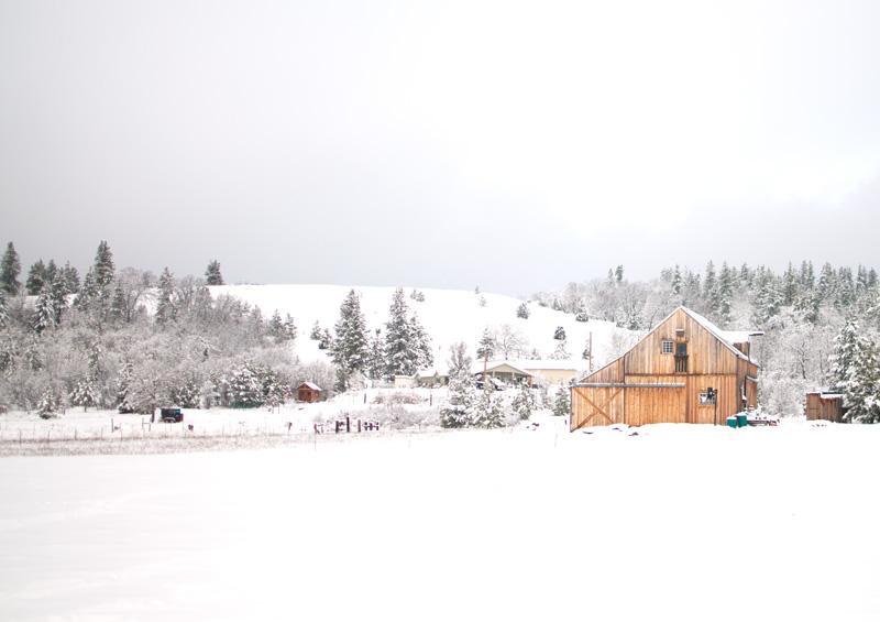 Barn-snow