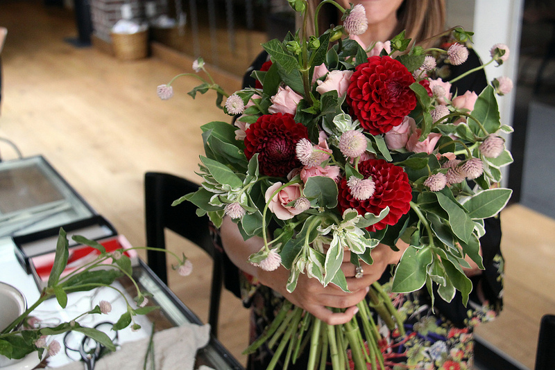 Gathering the bouquet
