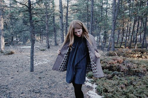Plaid cape and dress