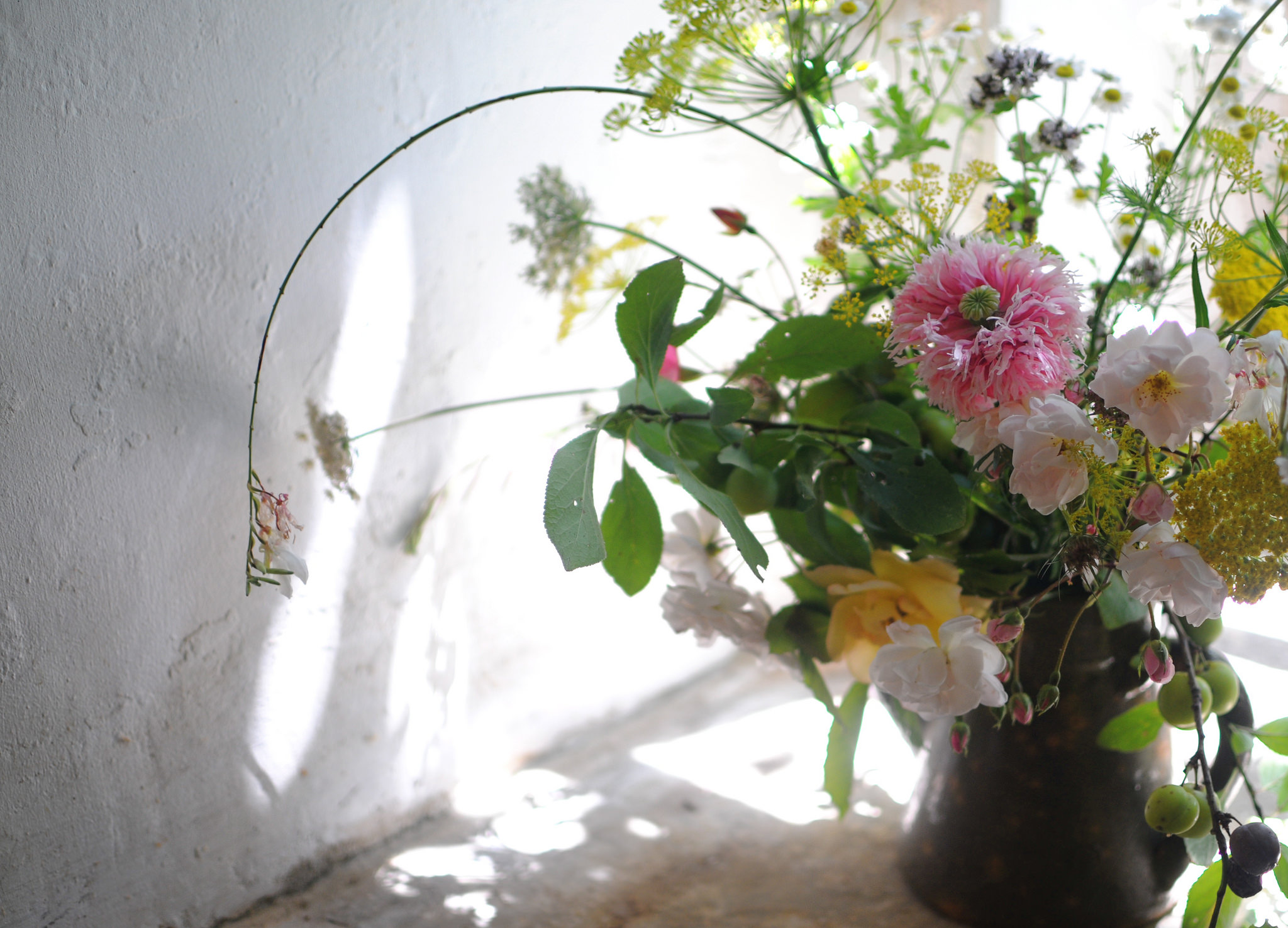 pink flower arrangement france