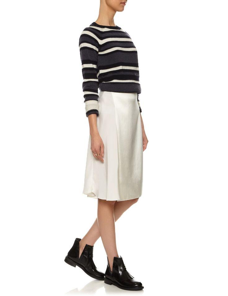 italian sweater striped charcoal jw anderson