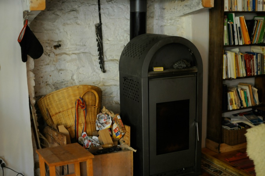 french farm fireplace