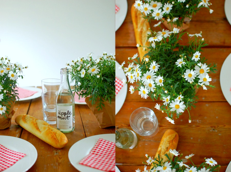 how to style a picnic table