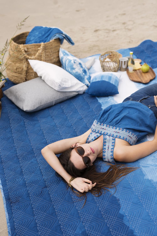 beach picnic indigo