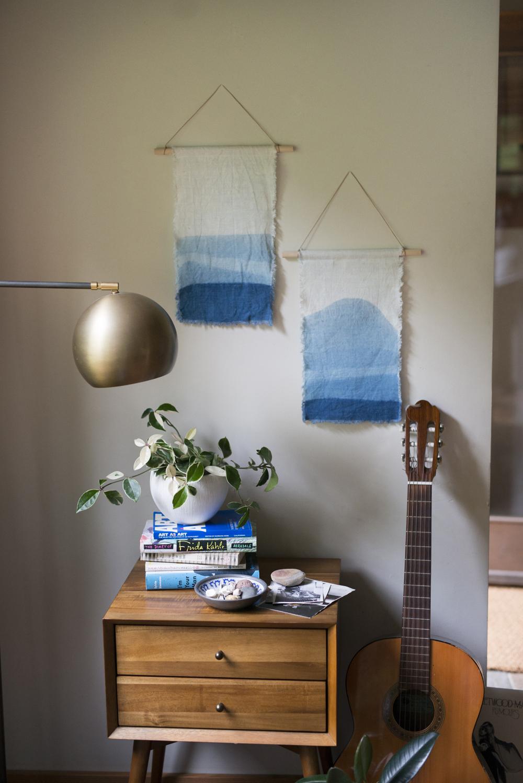 indigo wall hangings