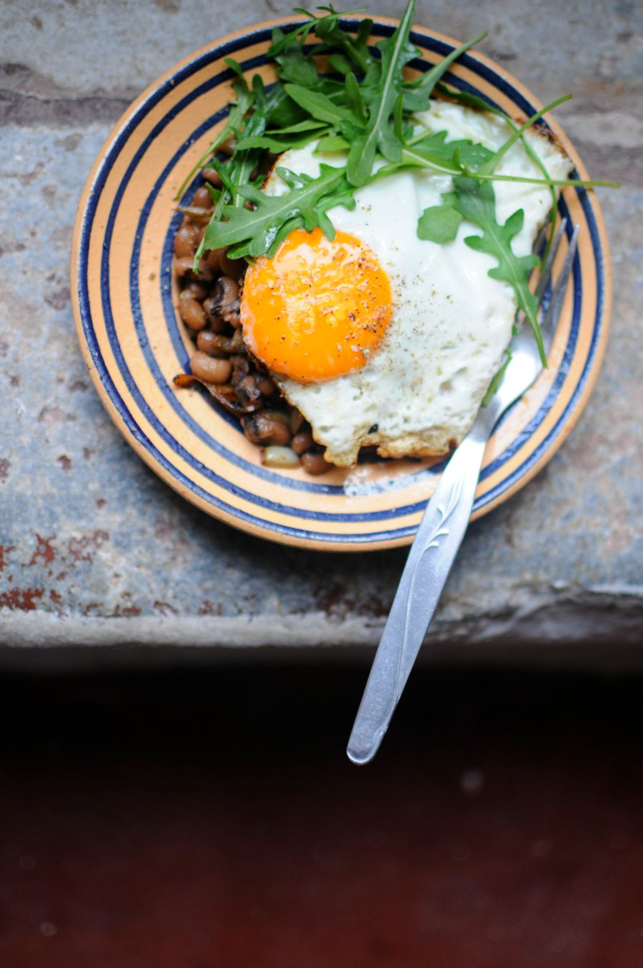 eggs and lentils