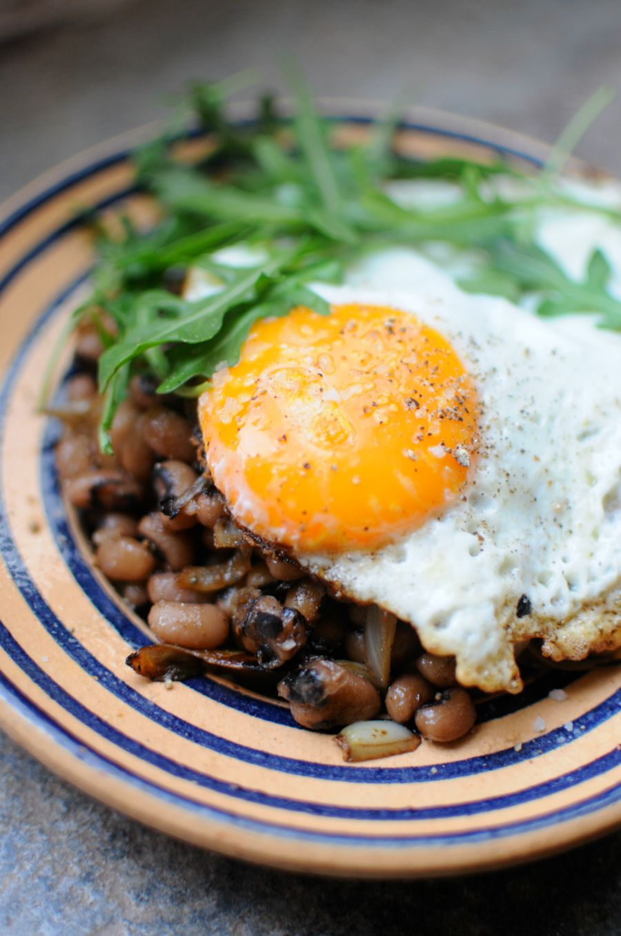 lentils and eggs
