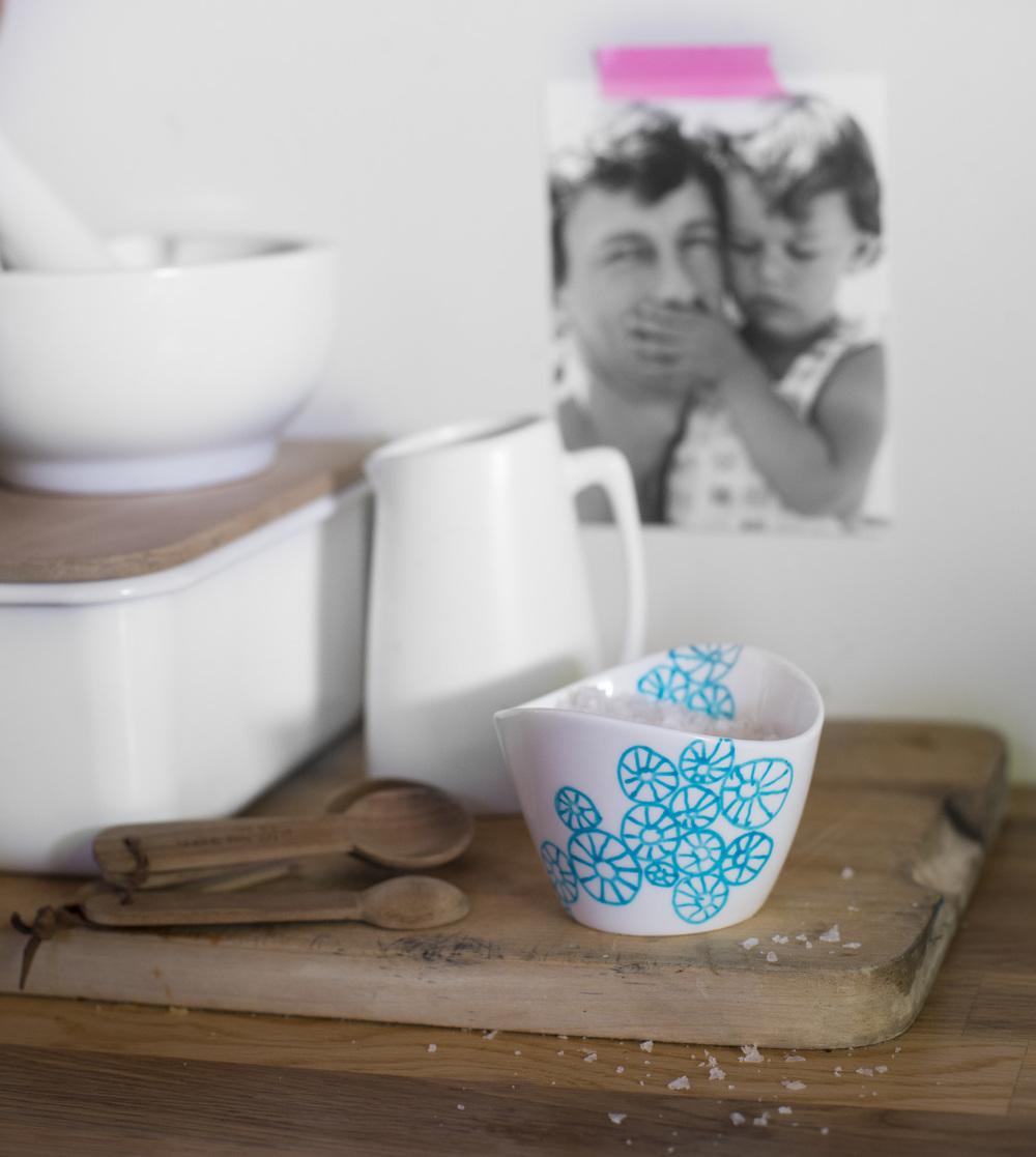 stamp stencil paint salt bowl