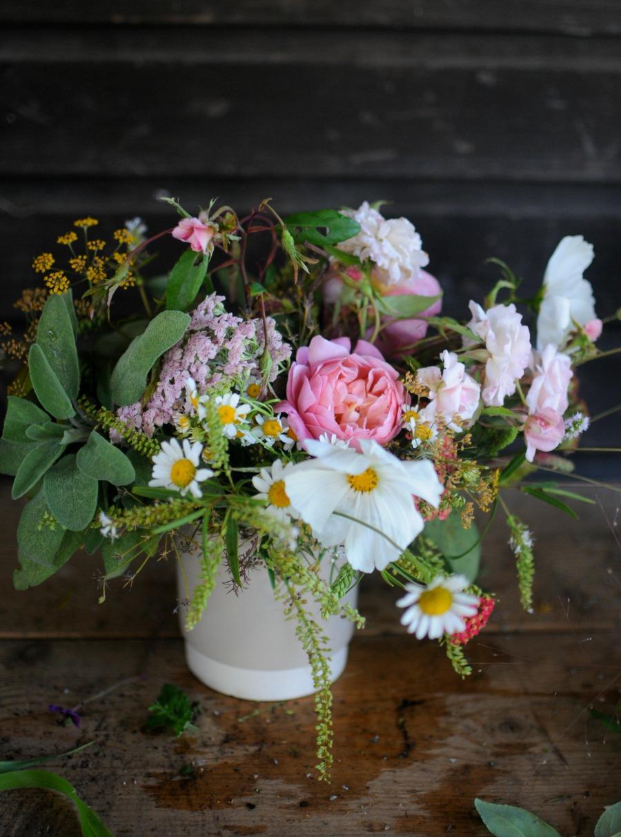 autumn garden arrangement