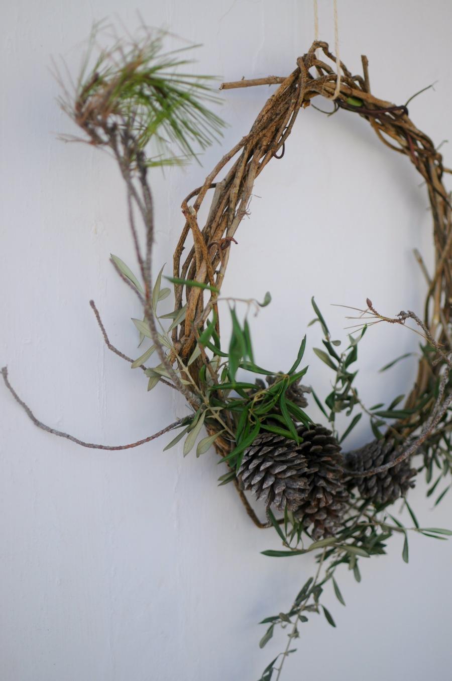 a foraged wreath