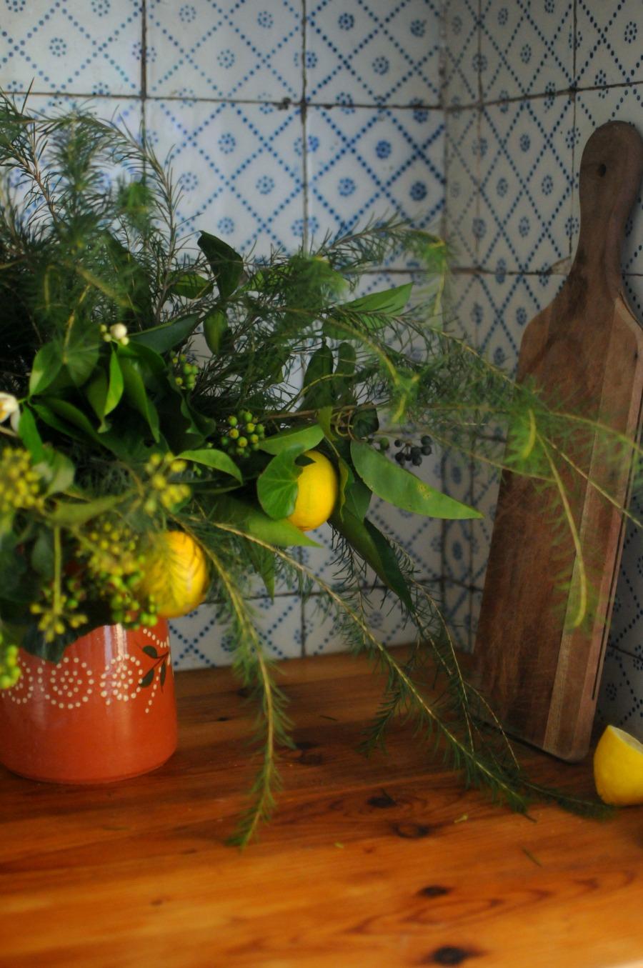 christmas kitchen arrangement