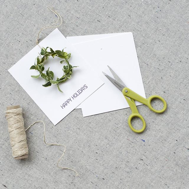 mini wreath cards