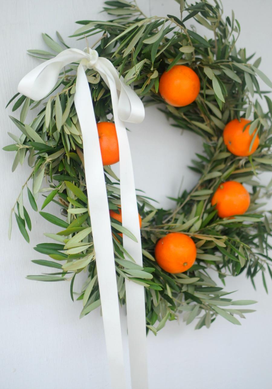 orange and olive wreath